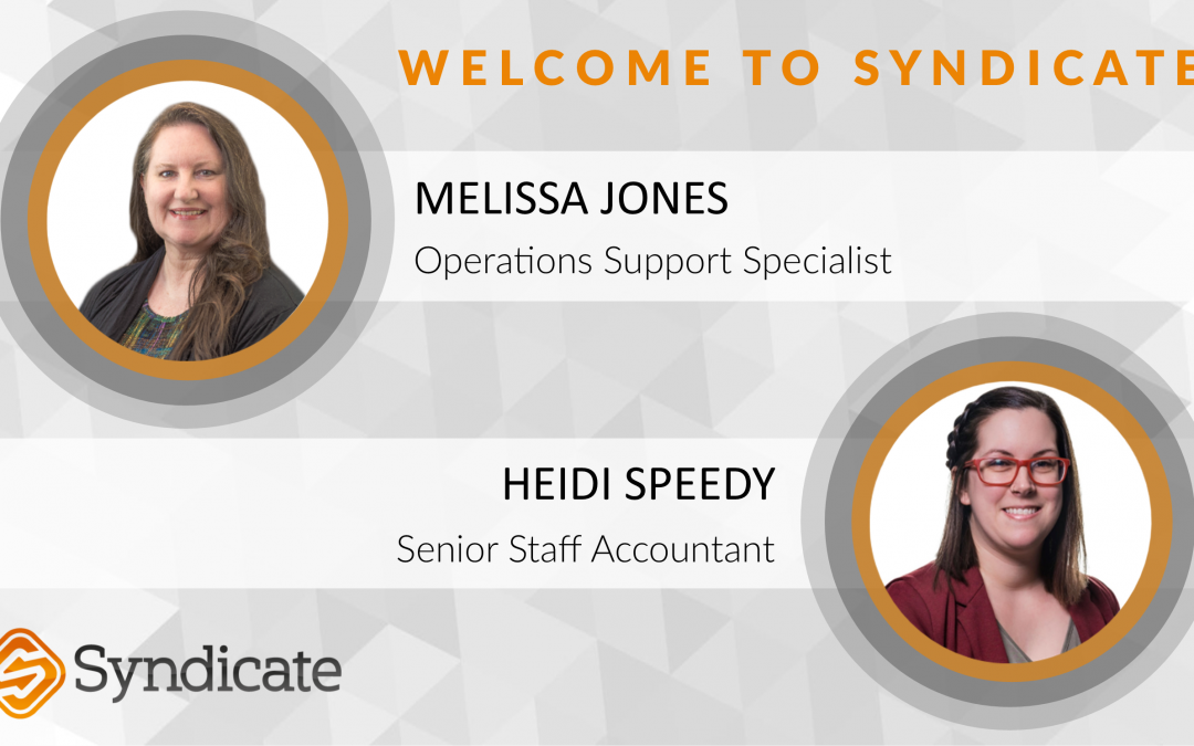 Syndicate Welcomes New Claim Support & Accounting Team Members